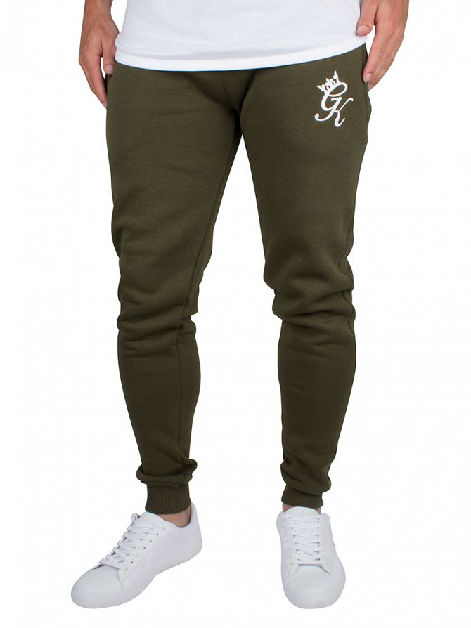 Gym King Khaki Core Logo Joggers