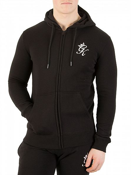 Gym King Black Core Logo Zip Hoodie