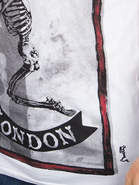 Religion White Praying Skeleton Flag Graphic T-Shirt