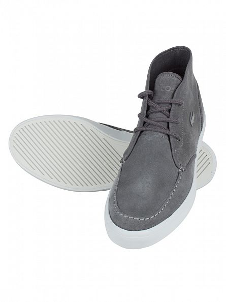 Lacoste Dark Grey Sevrin MID 316 1 CAM Trainers