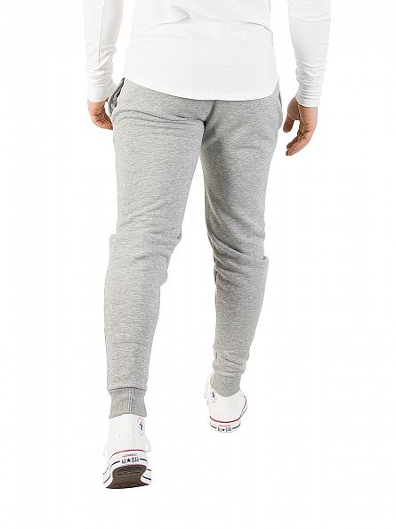Gym King Grey Marl Core Logo Joggers