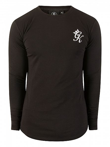 Gym King Black Undergarment Longsleeved Logo T-Shirt