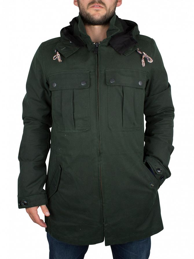 Scotch & Soda Cobra Green Atlas Parka Jacket