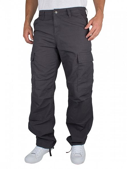 Carhartt WIP Blacksmith Rinsed Regular Logo Cargos