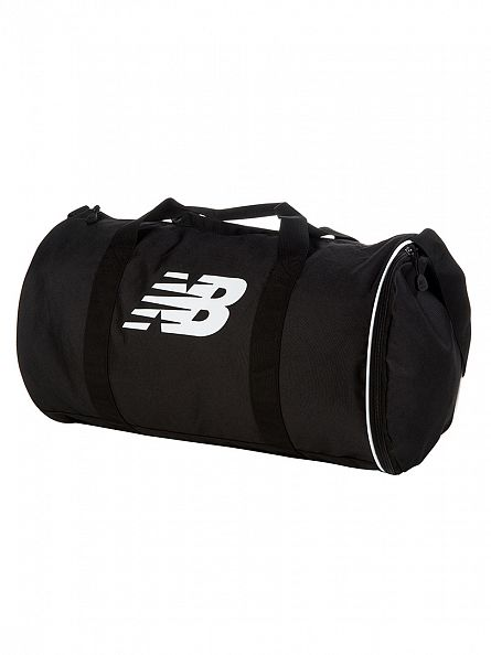 New Balance Black Lifestyle Barrel Logo Holdall