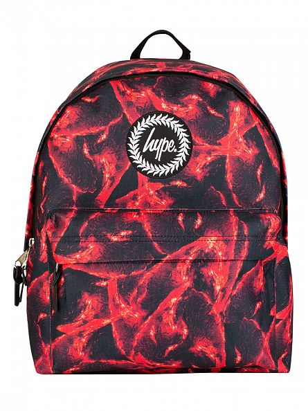 Hype Red Multi Firewall Logo Backpack
