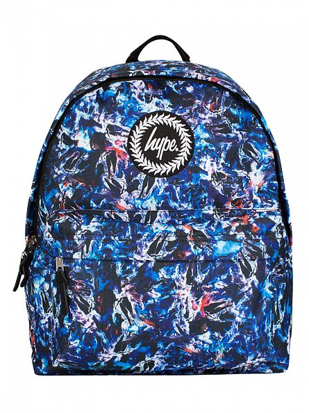 Hype Blue Multi Azoic Logo Backpack