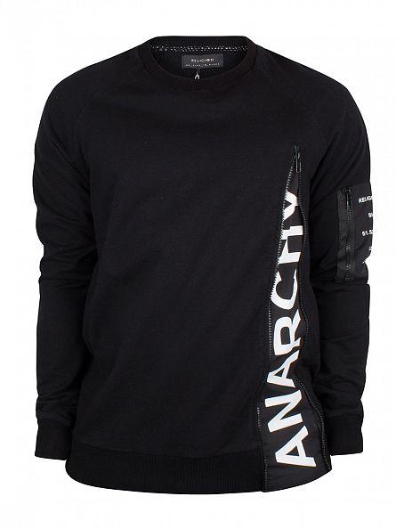 Religion Black Anarchy Zip Sweatshirt