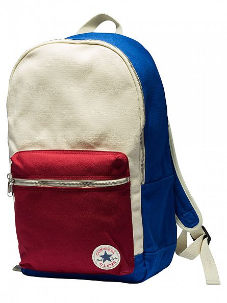 Converse Blue/Red Core Plus Logo Backpack