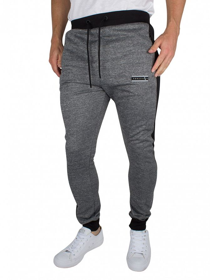 Foray Anthracite/Black Ferrum Loopback Marled Joggers