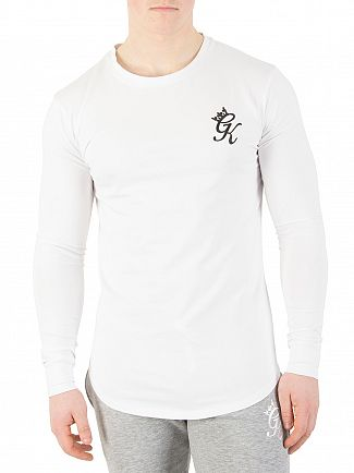 Gym King White Undergarment Longsleeved Logo T-Shirt