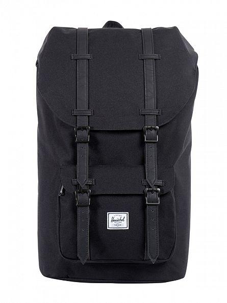 Herschel Supply Co Black/Black Little America Straps Backpack