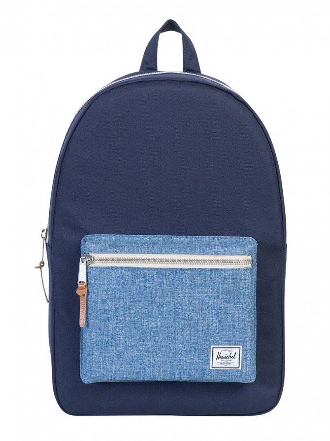 Herschel Supply Co Peacoat/Limoges Crosshatch Settlement Pocket Panel Backpack