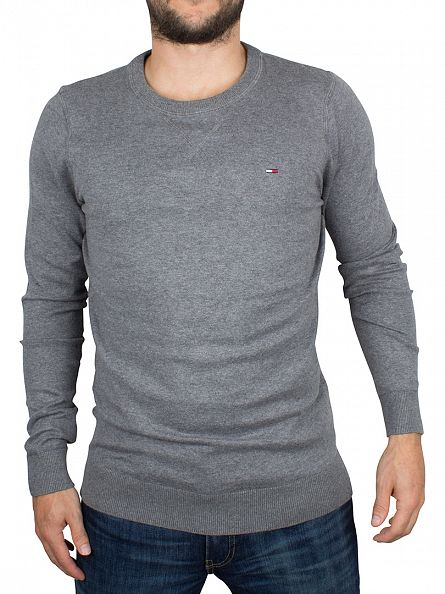 Hilfiger Denim Deep Grey Heather Basic Logo Knit