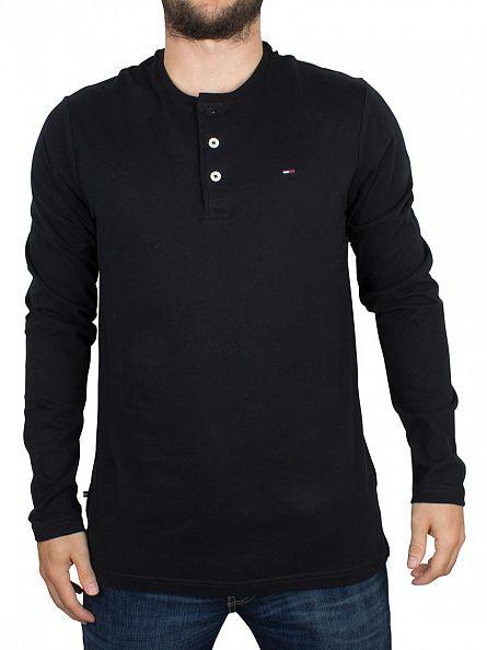 Hilfiger Denim Caviar Basic Logo Longsleeved Henley T-Shirt
