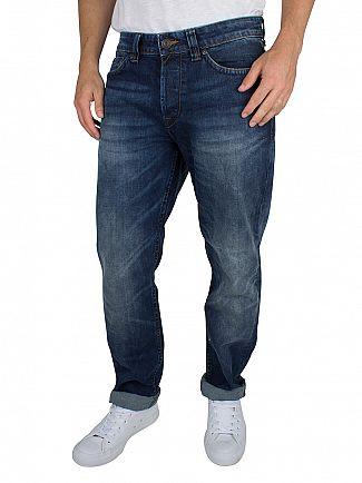 Only & Sons Medium Blue Weft Regular Fit Jeans