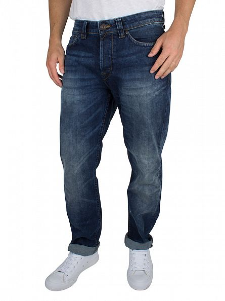 Only & Sons Medium Blue Weft Regular Fit Jeans