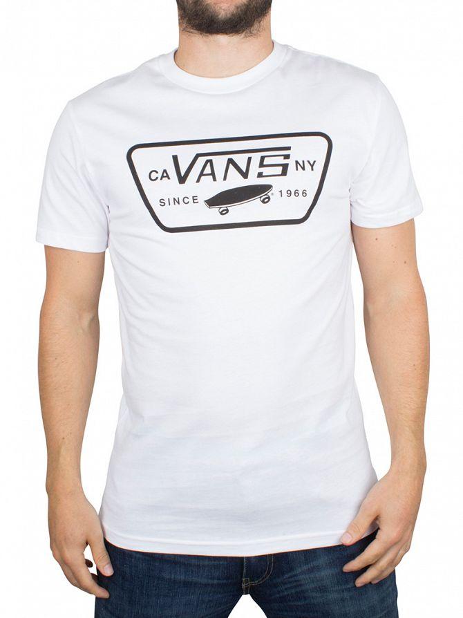 Vans White/Black Full Patch Logo T-Shirt