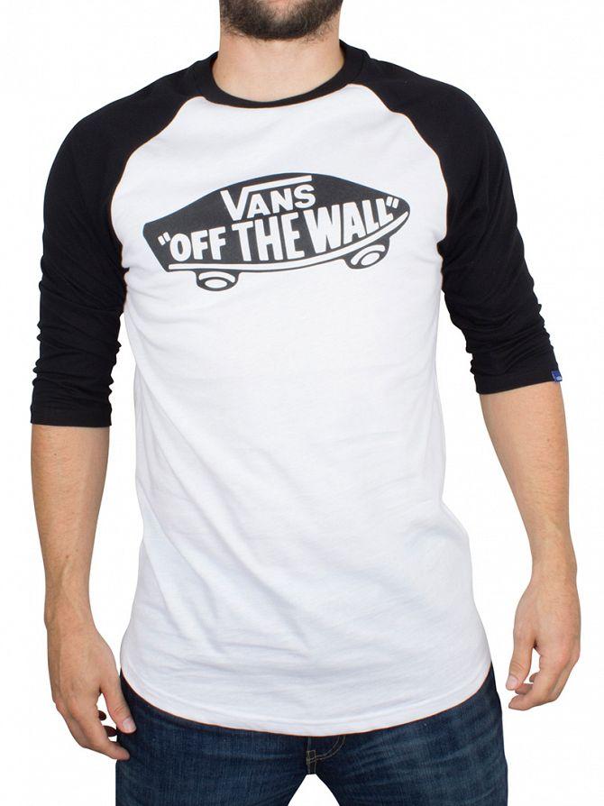 Vans White/Black/Black Raglan Logo T-Shirt
