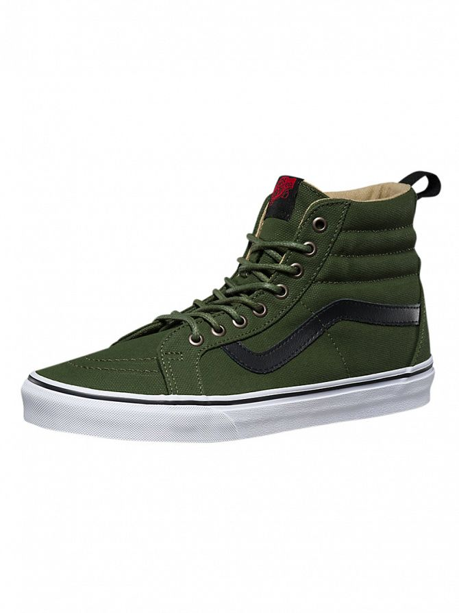 Vans Military Twill/Rifle Green Sk8-Hi Reissue Trainers