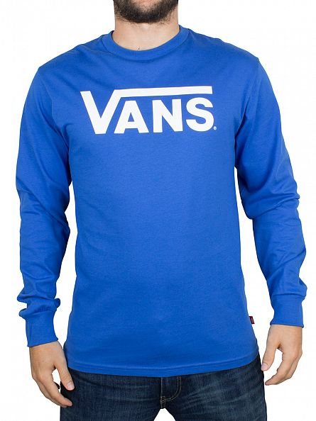 Vans Royal/Bright White Longsleeved Classic Logo T-Shirt
