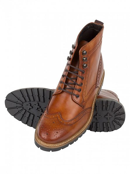 Base London Washed Tan Troop Boots