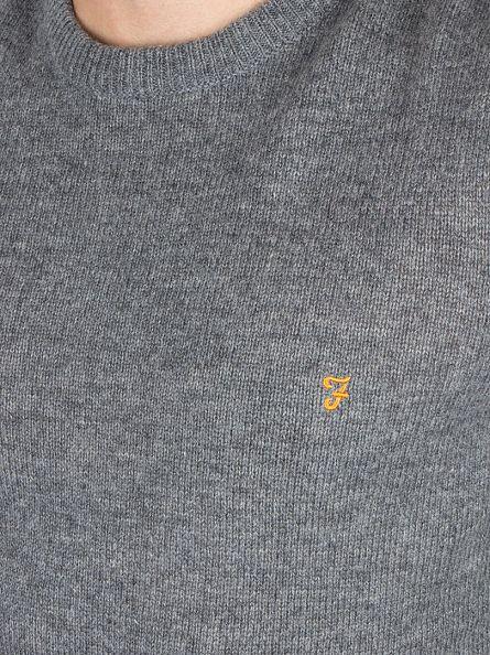 Farah Vintage Gravel Marl Rosescroft Logo Knit