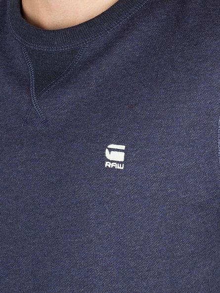G-Star Sartho Blue Heather Varos Logo Sweatshirt