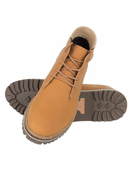 Lacoste Light Brown Montbard Chukka 316 1 CAM Boots