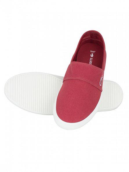 Lacoste Dark Red Marice 316 1 SPM Slip-Ons