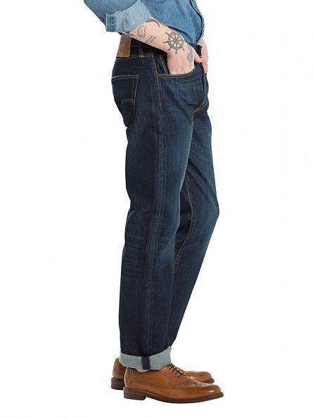 Levi's Dark Denim 501 Original Fit Smith Station Jeans