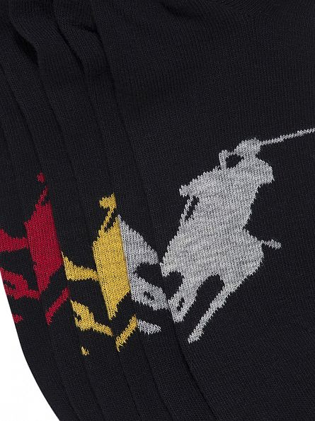 Polo Ralph Lauren Black/Grey/Yellow/Red 3 Pack Logo Socks