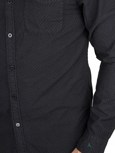 Scotch & Soda Black All Over Printed Checked Shirt