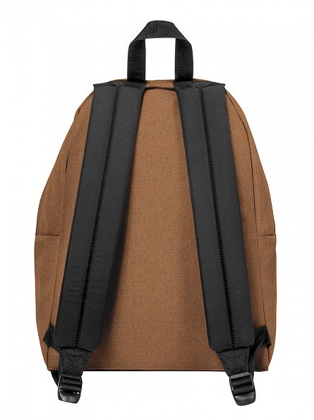 Eastpak Brown Padded Pak R Crafty Beige Logo Backpack
