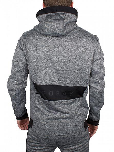 Foray Anthracite/Black Ferrum Loopback Marled Logo Hoodie