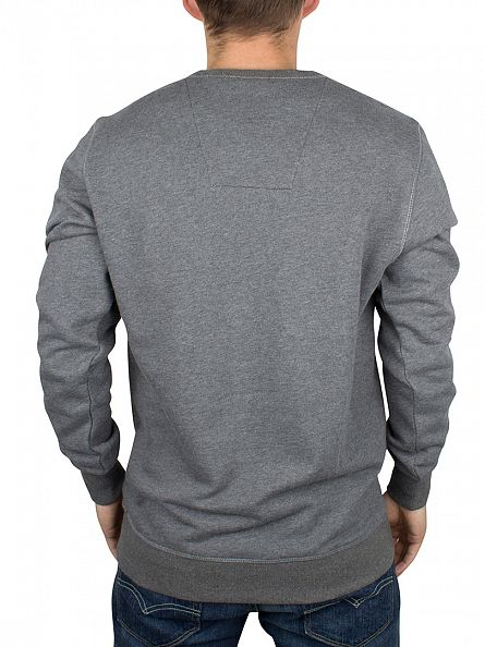 G-Star GS Grey Heather Varos Logo Sweatshirt