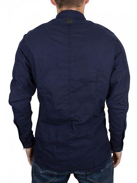 G-Star Sartho Blue Slim Fit Curved Hem Powel Shirt