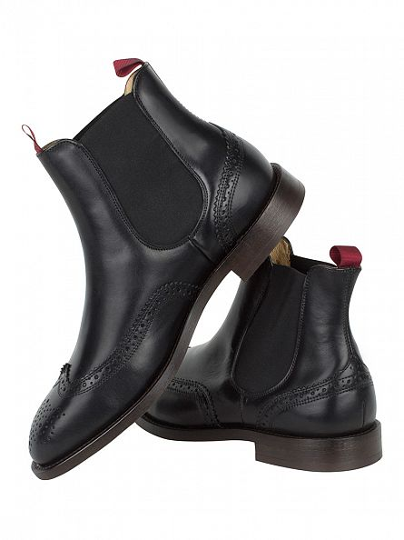 H by Hudson Black Breslin Calf Boots