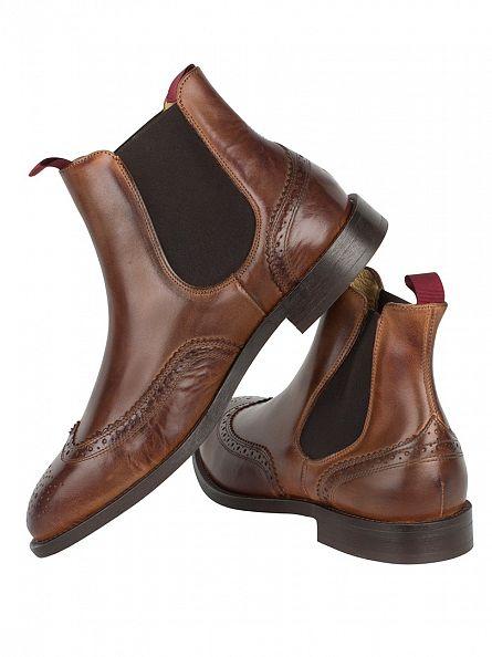 H by Hudson Cognac Breslin Calf Boots