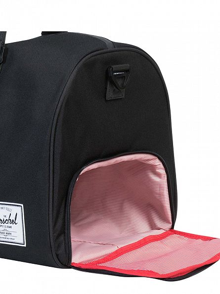 Herschel Supply Co Black/Black Novel Logo Holdall