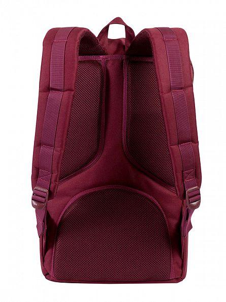 Herschel Supply Co Windsor Wine/Tan Little America Straps Backpack