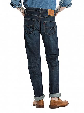 Levi's Dark Denim 501 Original Fit Smith Station Jeans
