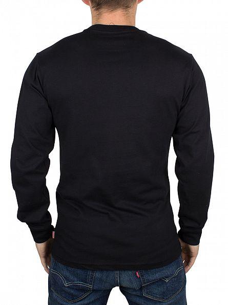 Vans Black/Datoura Tolle Longsleeved Classic Floral Birds Nest Logo T-Shirt
