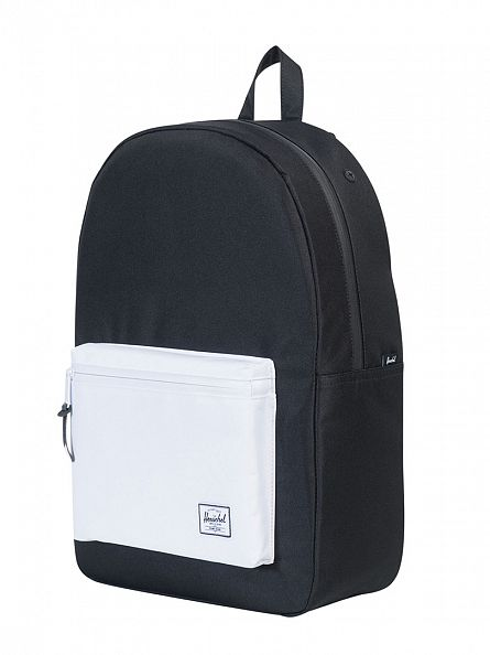 Herschel Supply Co Black/White Settlement Pocket Panel Backpack