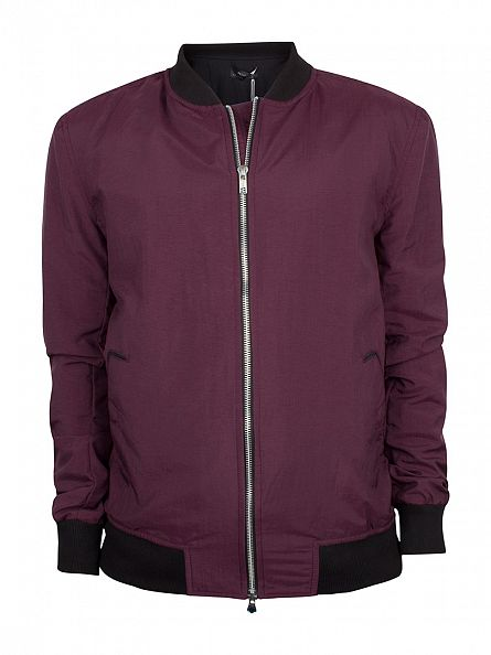 Religion Oxblood Spaced Zip Jacket