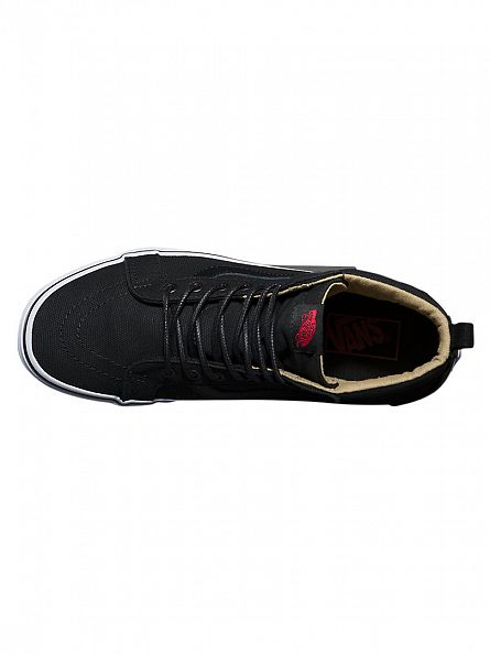 Vans Black Sk8-Hi Reissue PT Hi Military Twill Trainers