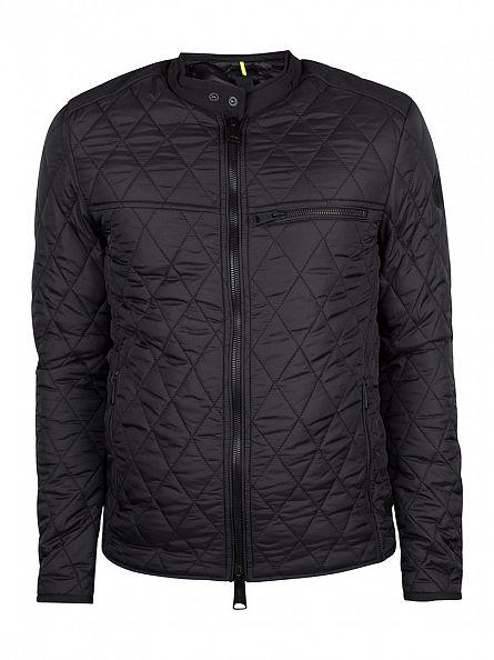 Replay Black Padded Logo Jacket