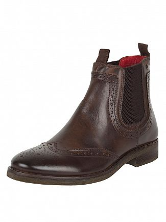 BASE LONDON BURNISHED COCOA SOUTHWARK BOOTS