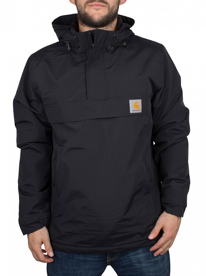 Carhartt WIP Black Nimbus Logo Pullover Jacket