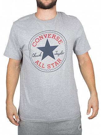Converse Vintage Grey Heather Core Chuck Taylor Patch T-Shirt